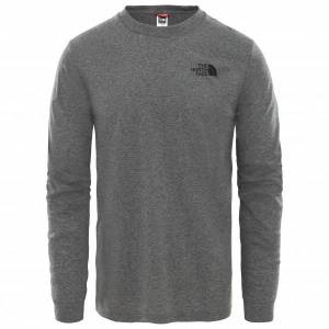 The North Face - L/S Simple Dome Tee Mixed - Longsleeve size XL, grey