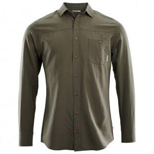 Aclima - Woven Wool Shirt - Shirt size M, black/olive/grey