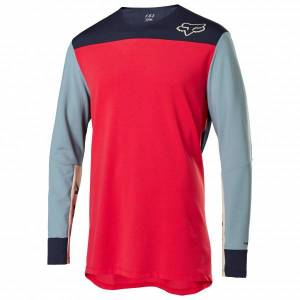FOX Racing - Defend Delta L/S Jersey - Cycling jersey size XL, red/grey