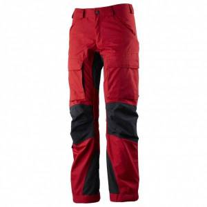 Lundhags - Women's Authentic Pant - Walking trousers size D22 - Short / Wide, red/black