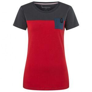 Black Diamond - Women's S/S Campus Tee - T-shirt size XS, red/black