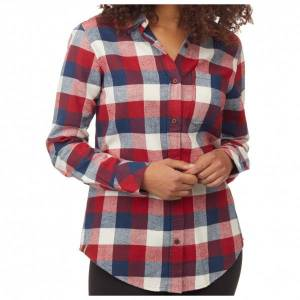 tentree - Women's Lush Flannel Shirt - Blouse size XS, red/grey