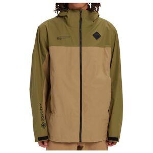 Burton - GTX Packrite Jacket Slim - Waterproof jacket size S, brown/olive/sand