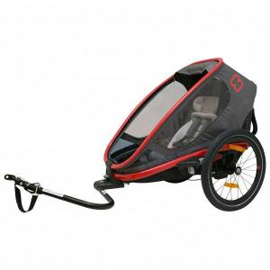 Hamax - Outback One w/ Bicycle Arm & Stroller Wheel Recl. - Child trailer black/grey