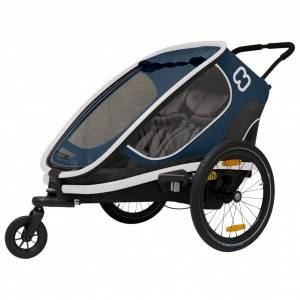 Hamax - Outback w/ Bicycle Arm & Stroller Wheel Reclining - Child trailer black/grey