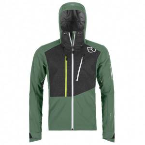 Ortovox - Pordoi Jacket - Softshell jacket size S, olive/black/grey