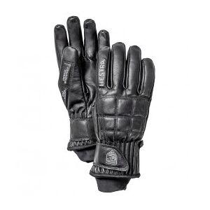 Hestra - Henrik Leather Pro Model 5 Finger - Gloves size 6, black/grey