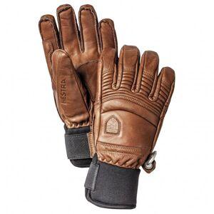 Hestra - Leather Fall Line 5 Finger - Gloves size 9, brown/black