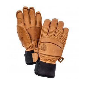 Hestra - Leather Fall Line 5 Finger - Gloves size 9, brown/sand/orange/black