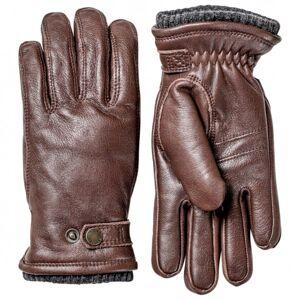 Hestra - Utsjö - Gloves size 9, brown/grey