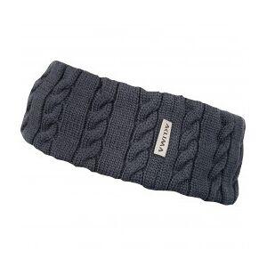 Aclima - Knitted Headband - Headband size One Size, black;white/sand