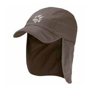 Jack Wolfskin - Supplex Canyon Cap Kids - Cap size S, brown/grey