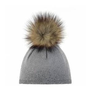 Eisbär - Women's Nalin Lux Crystal - Beanie size One Size, grey/brown