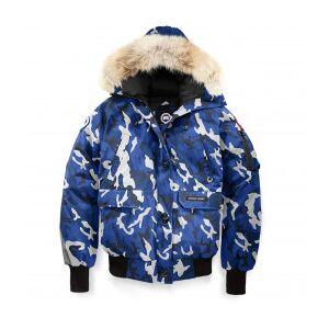 Canada Goose - Women's Chilliwack Bomber PBI Print - Winter jacket size L, blue/grey