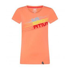 La Sportiva - Women's Stripe Evo - T-shirt size L, orange