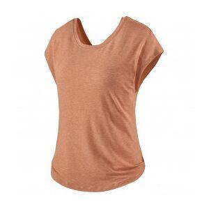 Patagonia - Women's Glorya Twist Top - T-shirt size XS, sand/brown/orange