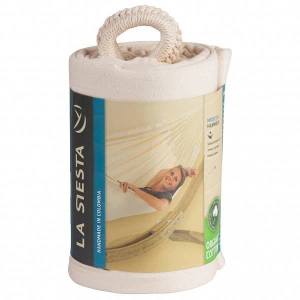 La Siesta - Modesta - Hammock size Single - 200 x 140 cm, sand/white