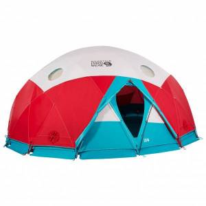 Mountain Hardwear - Space Station Dome Tent - Group tent red/turquoise/grey