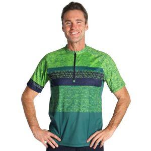 VAUDE Ligure Bike Shirt Bikeshirt, for men, size S, Cycling jersey, Cycling clot  - green - male - Size: Small
