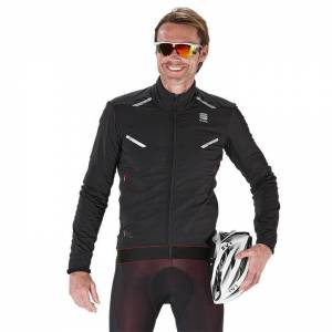 SPORTFUL R&D Zero Thermal Jacket, black, for men, size M, Cycle jacket, Cycling