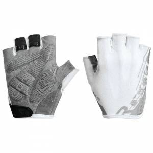 ROECKL Ilova Gloves Cycling Gloves, for men, size 6,5, MTB gloves, Bike clothes  - white/silver - male - Size: 6,5