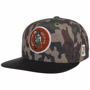 Mitchell & Ness HWC Camo Flannel Celtics Cap by Mitchell & Ness Col.  camouflage, size One Size