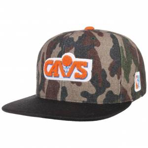 Mitchell & Ness HWC Camo Flannel Cavs Cap by Mitchell & Ness Col.  camouflage, size One Size