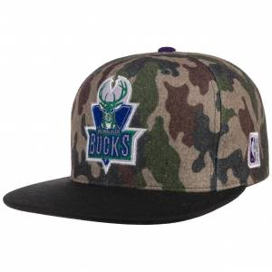 Mitchell & Ness HWC Camo Flannel Bucks Cap by Mitchell & Ness Col.  camouflage, size One Size