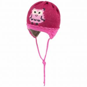 maximo Owl Kids Beanie with Lining by maximo Col.  pink, size 51 cm
