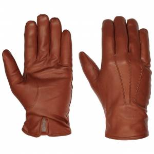 Caridei Classic Nappa Leather Mens Gloves by Caridei Col.  brown, size 9 HS