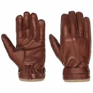 Caridei Naples Nappa Leather Mens Gloves by Caridei Col.  brown, size 9 1/2 HS
