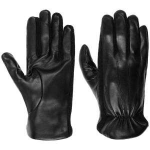 Caridei Nappa Leather Mens Gloves by Caridei Col.  black, size 9 1/2 HS