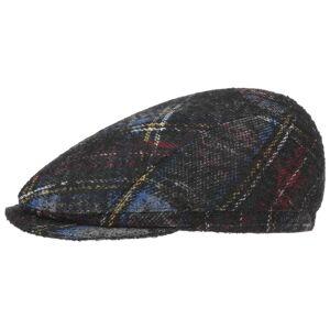 Hatshopping Tompson Wool Check Flat Cap Col.  black, size 60 cm