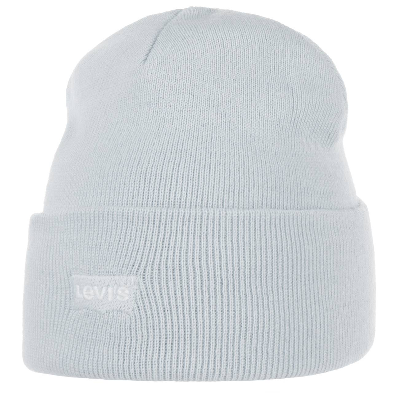 Levis Mini Batwing Tone in Tone Beanie Hat by Levis Col.  light blue, size One Size