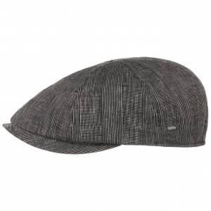 Bailey of Hollywood Alsen Linen Flat Cap by Bailey of Hollywood Col.  black, size M (56-57 cm)