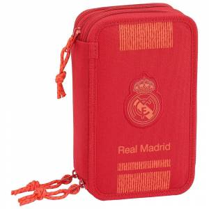 Safta Real Madrid Triple 41 Units Pencil Case One Size Red
