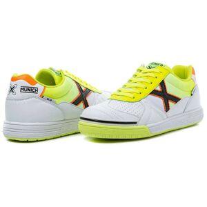 Munich G3 In Indoor Football Shoes EU 46 White / Yellow / Black / Orange