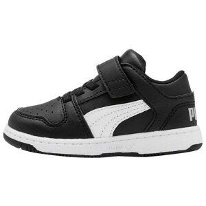 Puma Rebound Layup Lo Sl Velcro Infant EU 19 Puma Black / Puma White / High Rise male