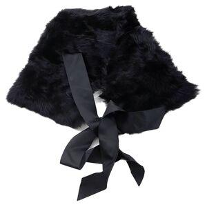 Dolce & Gabbana 721608 Fur Collar One Size Black female