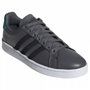 Adidas Grand Court EU 39 1/3 Grey Five / Core Black / Collegiate Green male