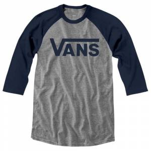 Vans Classic Raglan XL Athletic Heather / Dress Blues male