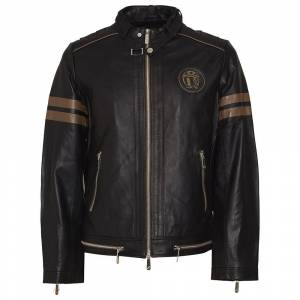 Skull Rider Srs Leather L Black male
