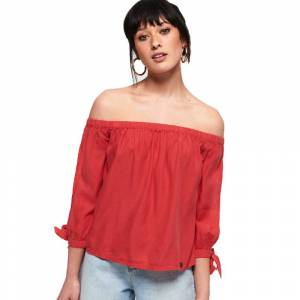 Superdry Helena XS Washed Red female