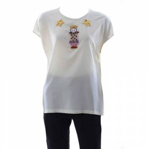 Dolce & Gabbana Women Jewel Blouse 40 White female