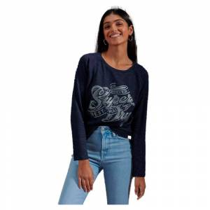 Superdry Detroit Graphic XL Atlantic Navy / Silver female