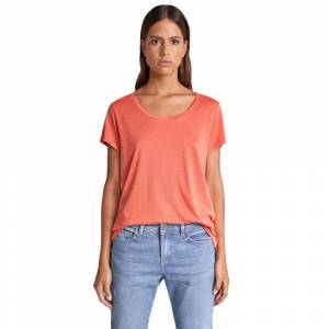 Salsa Jeans Timeless U Neck Lyocell XS Orange female