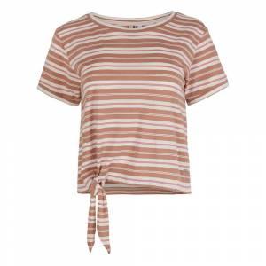 O´neill Striped Knotted XL Brown / Beige All Over Print / Pink female