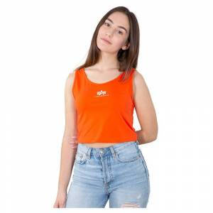 Alpha Industries Basic Crop XS Atomic Red female