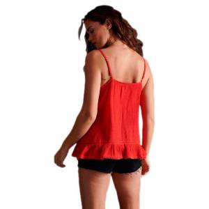 Superdry Summer Lace Cami XS Apple Red female