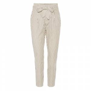 Vero Moda Eva Loose Striped Paperbag M Snow White / Stripes Silver Mink female